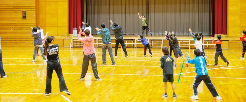 子供と一緒の運動で体力アップ